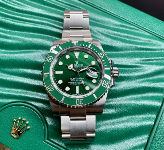 ROLEX HULK SUBMARINER GREEN DIAL AND BEZEL 116610LV 44