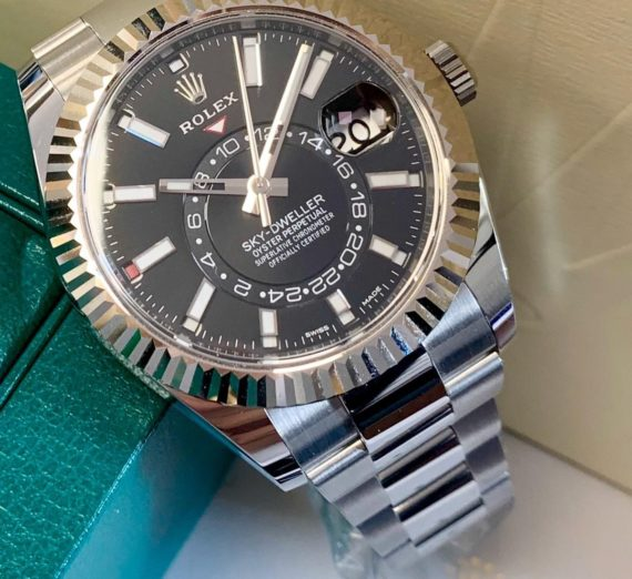 ROLEX SKY-DWELLER OYSTERSTEEL AND WHITE GOLD 326934 5