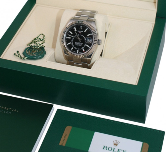 ROLEX SKY-DWELLER OYSTERSTEEL AND WHITE GOLD 326934 7