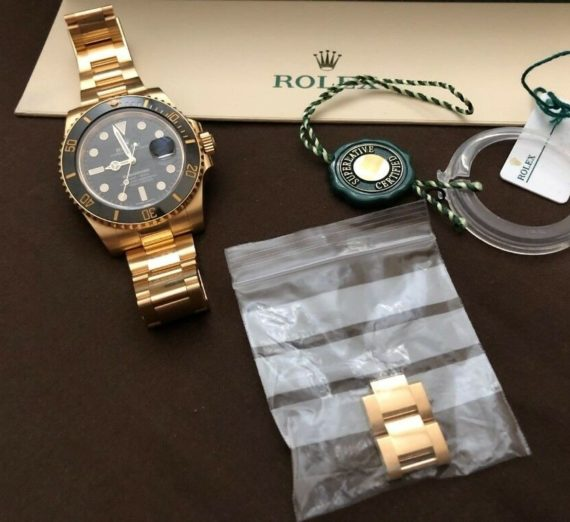 ROLEX SUBMARINER DATE 18ct GOLD 116618LN 6