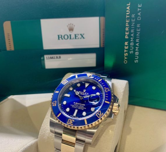ROLEX SUBMARINER STEEL AND GOLD 116613LB 11