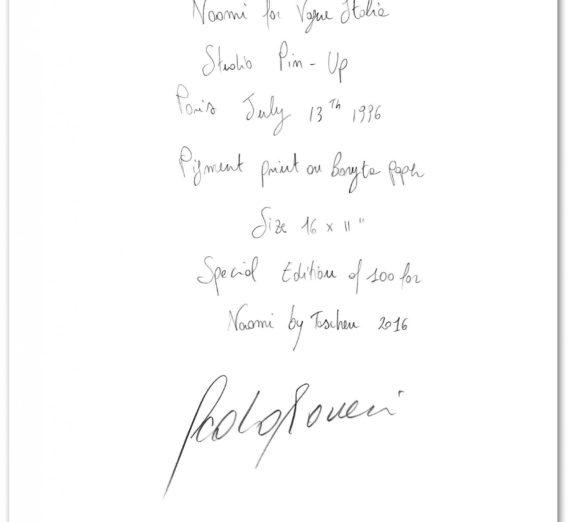 Naomi Campbell, Art Edition No. 101–200, Paolo Roversi 'Vogue Italy' Edition of 100 1