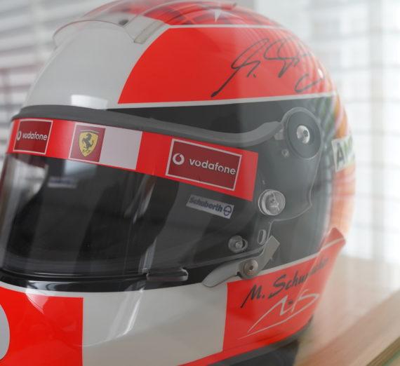 Very Rare Michael Schumacher Personally Signed F1 Helmet 9