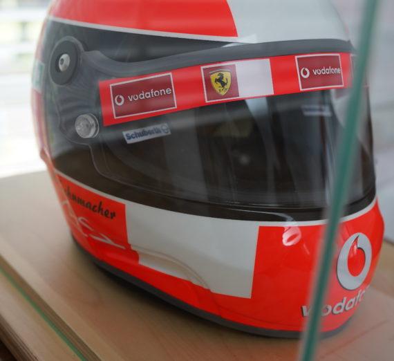 Very Rare Michael Schumacher Personally Signed F1 Helmet
