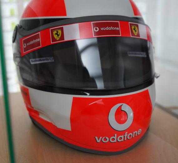 Very Rare Michael Schumacher Personally Signed F1 Helmet 5