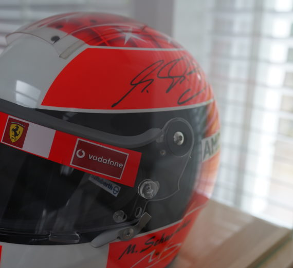 Very Rare Michael Schumacher Personally Signed F1 Helmet 6