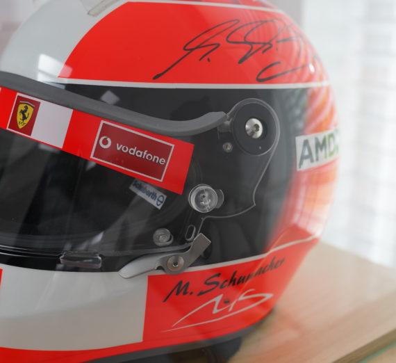 Very Rare Michael Schumacher Personally Signed F1 Helmet 7