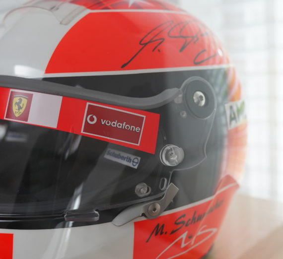Very Rare Michael Schumacher Personally Signed F1 Helmet 8
