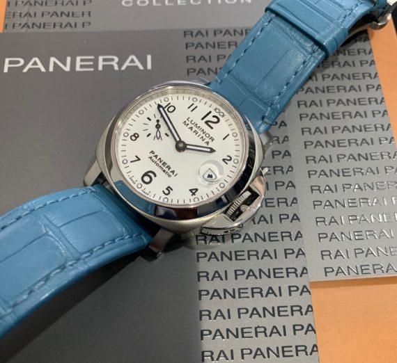 A PANERAI WHITE DIAL MODEL PAM 0049 7