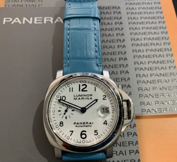 A PANERAI WHITE DIAL MODEL PAM 0049 8