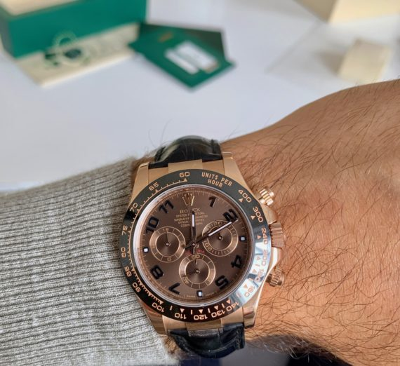 ROLEX DAYTONA 18CT ROSE GOLD MODEL 116515LN