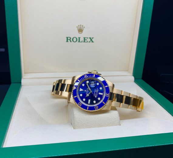SOLID GOLD ROLEX SUBMARINER 116618LB 1
