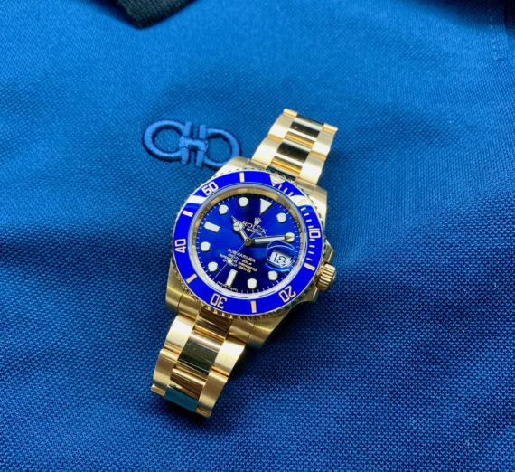 SOLID GOLD ROLEX SUBMARINER 116618LB