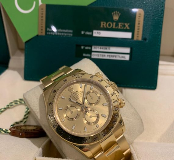 ROLEX COSMOGRAPH DAYTONA 18CT YELLOW GOLD 1