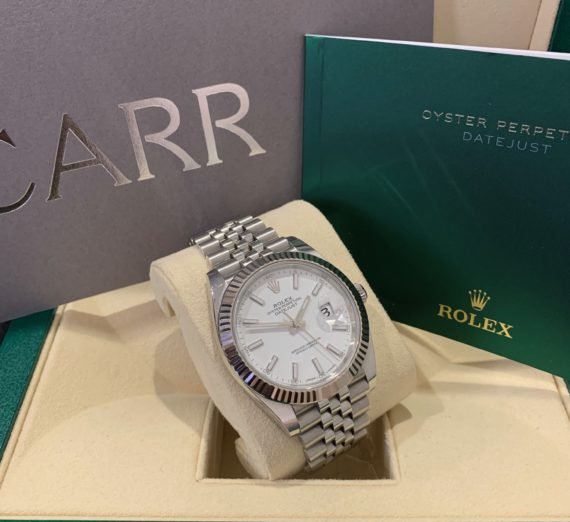 ROLEX 41MM DATEJUST 18CT WHITE GOLD AND STEEL 1