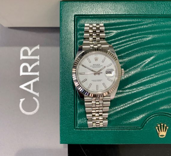 ROLEX 41MM DATEJUST 18CT WHITE GOLD AND STEEL 2