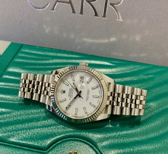 ROLEX 41MM DATEJUST 18CT WHITE GOLD AND STEEL 3
