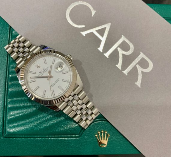 ROLEX 41MM DATEJUST 18CT WHITE GOLD AND STEEL 4