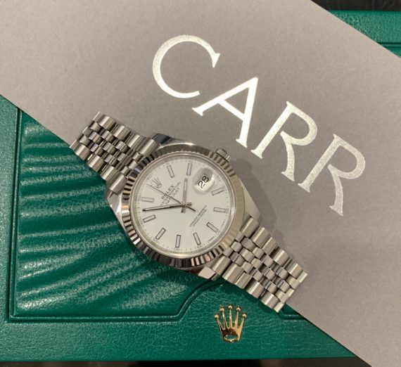 ROLEX 41MM DATEJUST 18CT WHITE GOLD AND STEEL 5