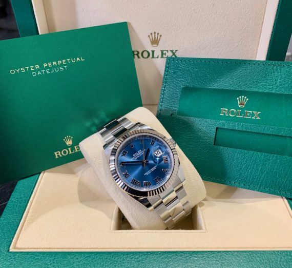 ROLEX 41MM DATEJUST  BLUE DIAL 2