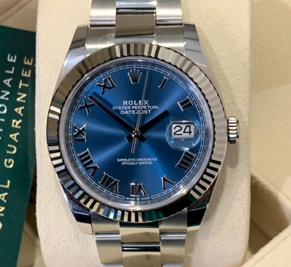 ROLEX 41MM DATEJUST  BLUE DIAL 3