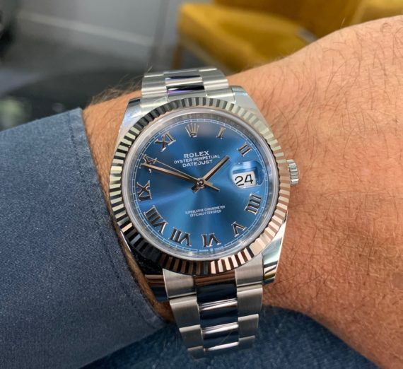 ROLEX 41MM DATEJUST  BLUE DIAL 4
