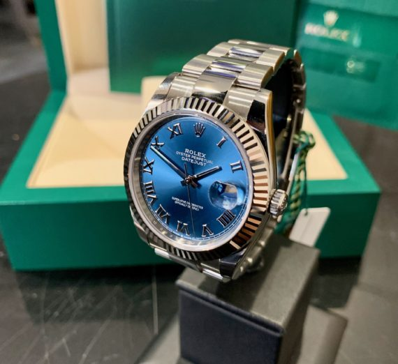 ROLEX 41MM DATEJUST  BLUE DIAL
