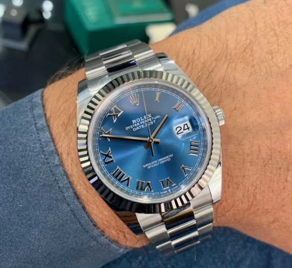 ROLEX 41MM DATEJUST  BLUE DIAL 5