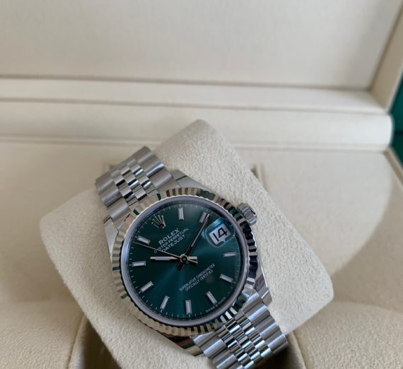 ROLEX DATEJUST 31MM NEW 2020 MINT GREEN 1