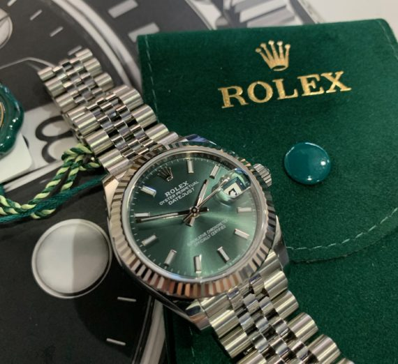 ROLEX DATEJUST 31MM NEW 2020 MINT GREEN 4