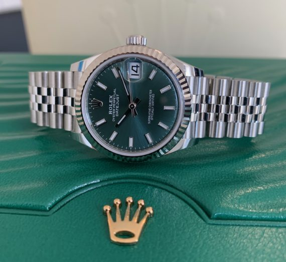 ROLEX DATEJUST 31MM NEW 2020 MINT GREEN