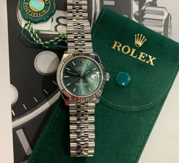 ROLEX DATEJUST 31MM NEW 2020 MINT GREEN 5