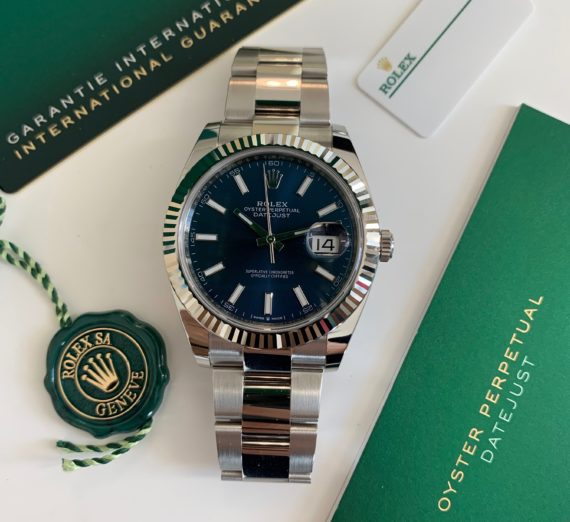ROLEX DATEJUST 41  BLUE DIAL STAINLESS STEEL 126334 9