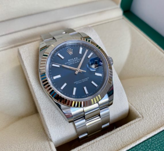 ROLEX DATEJUST 41  BLUE DIAL STAINLESS STEEL 126334 10