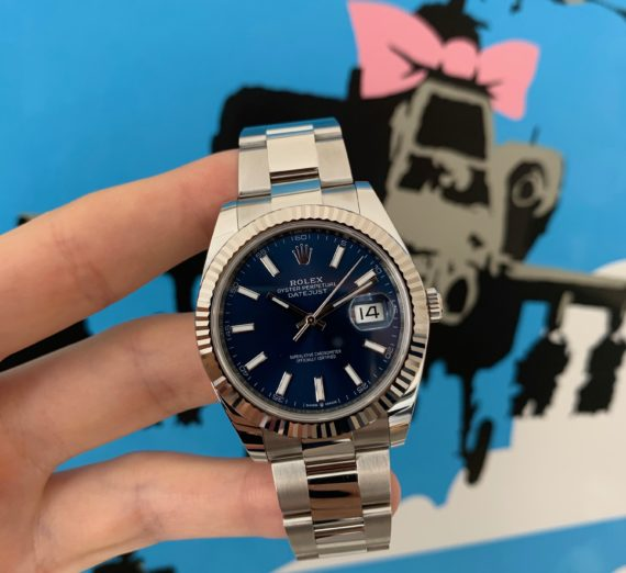 ROLEX DATEJUST 41  BLUE DIAL STAINLESS STEEL 126334 12