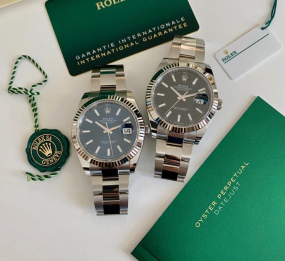 ROLEX DATEJUST 41  BLUE DIAL STAINLESS STEEL 126334 7