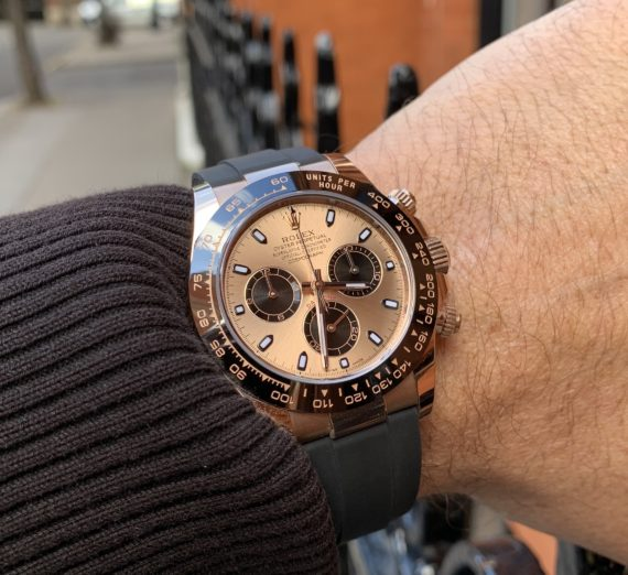 18ct ROSE GOLD ROLEX DAYTONA OYSTERFLEX 116515LN