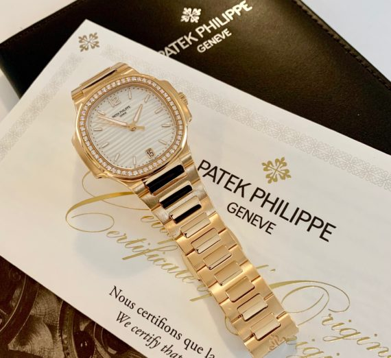 ALADIES PATEK NAUTILUS DIAMOND SET MODEL 7118 4