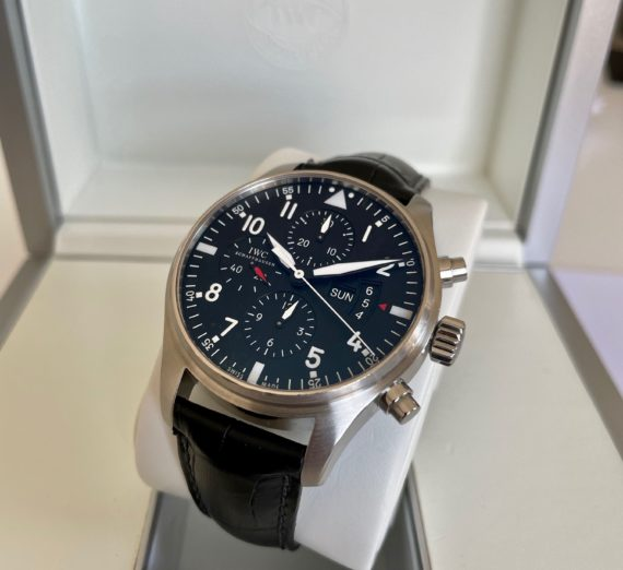 IWC PILOT CHRONOGRAPH MADE IN STAINLESS STEEL