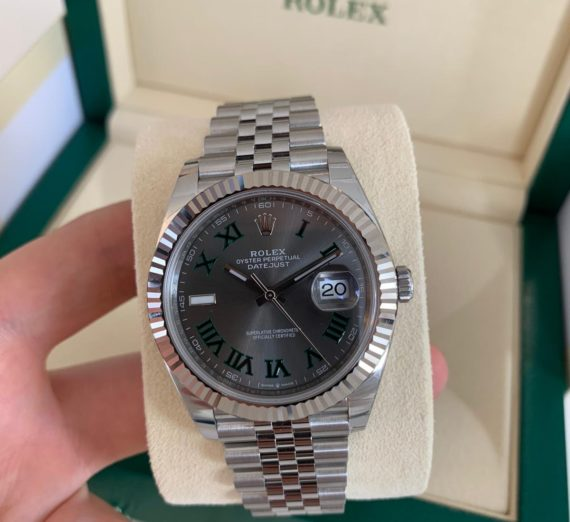ROLEX WIMBLEDON STEEL AND WHITE GOLD MODEL 126334 3
