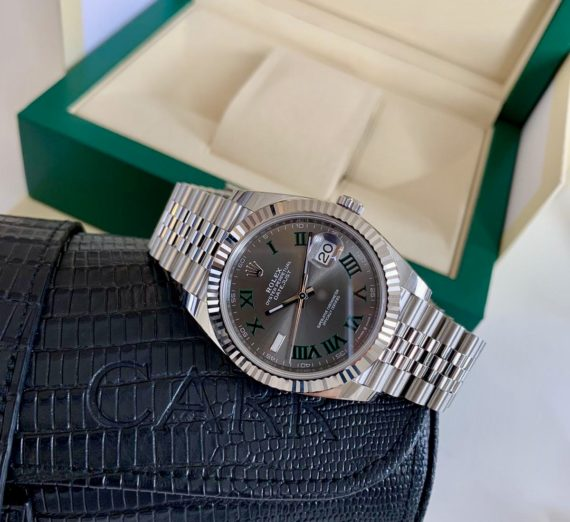 ROLEX WIMBLEDON STEEL AND WHITE GOLD MODEL 126334