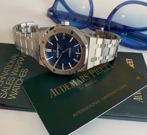 AUDEMARS PIGUET BOUTIQUE BLUE 15450ST.OO.1256ST.03 1