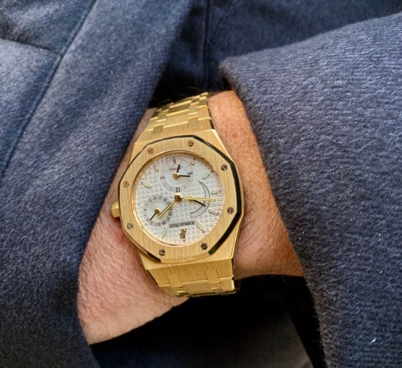AUDEMARS PIGUET DUAL TIME 18ct yellow gold 25730BA