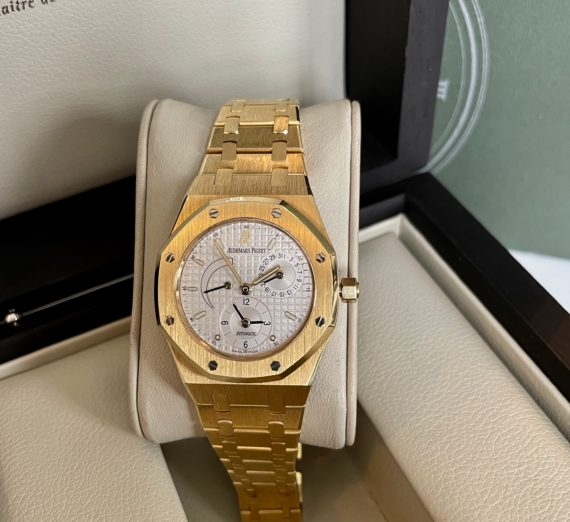 AUDEMARS PIGUET DUAL TIME 18ct yellow gold 25730BA 5