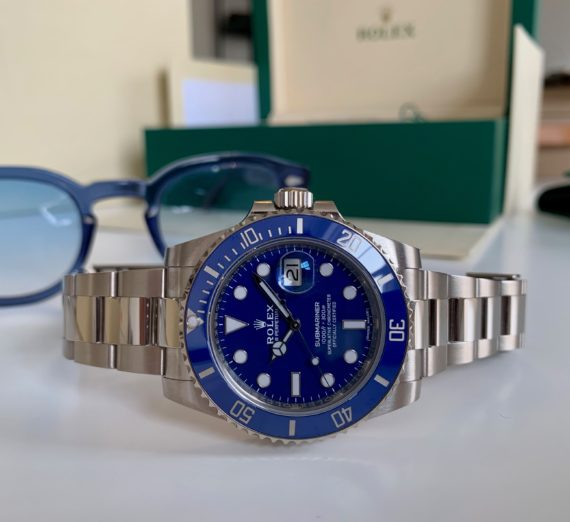 ROLEX SUBMARINER 18CT WHITE GOLD BLUE DIAL 116619LB 10