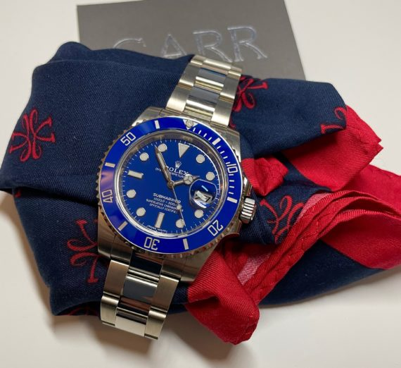 ROLEX SUBMARINER 18CT WHITE GOLD BLUE DIAL 116619LB 13