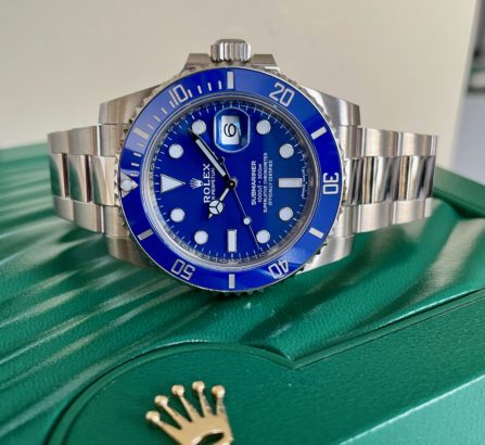 ROLEX SUBMARINER 18CT WHITE GOLD BLUE DIAL 116619LB 15
