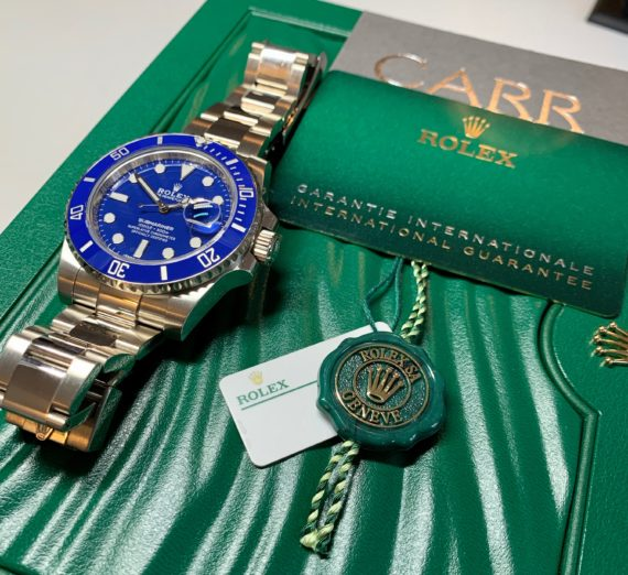 ROLEX SUBMARINER 18CT WHITE GOLD BLUE DIAL 116619LB 1