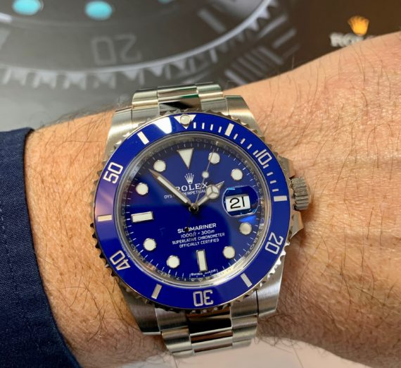 ROLEX SUBMARINER 18CT WHITE GOLD BLUE DIAL 116619LB 3