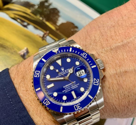ROLEX SUBMARINER 18CT WHITE GOLD BLUE DIAL 116619LB 4